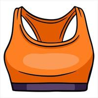 Top for fitness Tracksuit upper For fitness and yoga classes Cartoon style vector