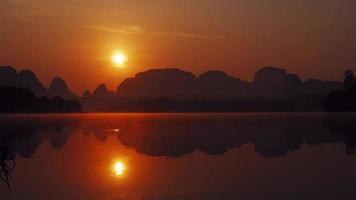 Beautiful morning sunrise and reflections at Krabi Thailand video