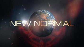 New Normal cinematic loop futuristic title trailer background video