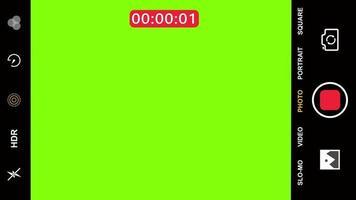 tela verde o visor da gravação de vídeo no smartphone começará a contar video