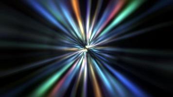 luz radial do feixe oscilante colorido do centro giratório do loop video