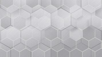 Stylish beautiful gray honeycomb hexagon pattern background video