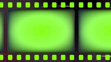 Green screen Slotted or perforated negative film strips Light leak surface video