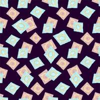 patrón sin costuras con condones de colores. El concepto de sexo seguro. día mundial de la anticoncepción. anticonceptivos de látex en el paquete. prevención del sida, vih y enfermedades de transmisión sexual vector