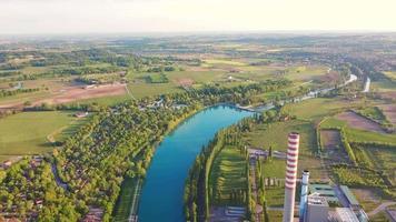 Industrial area top view video