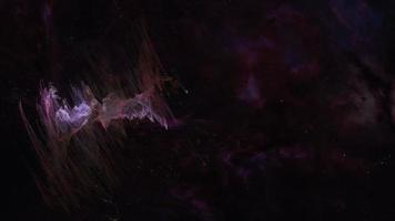 vol spatial voler par nébuleuse extraterrestre violet lueur video