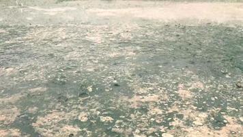 Rain falls on the road in the rainy season video