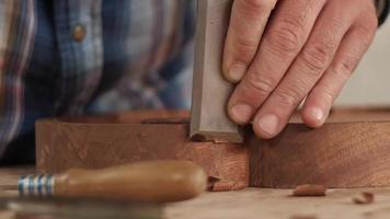 Woodcarver With a Chisel Cuts a Tea Tray Amazing ASMR Sound video