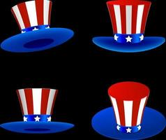 conjunto de sombreros de la independencia americana vector
