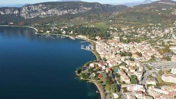 Wide Aerial Angle of The Town of Garda video