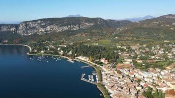 Bird Eye View of Rocca Di Garda video