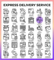Express delivery service icons vector