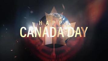 bonne fête du canada concept de boucle de titre de voeux cinématographique video