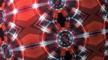 Illuminating visualization digital futuristic HUD pattern moving loop video