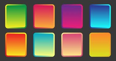 Set of beautiful gradient color pallet vector