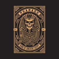Pharaoh Skull On Black vector