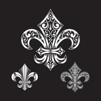 Ornate Fleur De Lis Collection vector