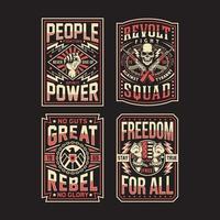 colección de diseños de camisetas de propaganda vector
