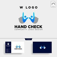 hand check approval community logo template vector illustration icon element isolated vectorhand check approval community logo template vector illustration icon element isolated vector