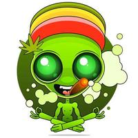 guy rastaman holds a bong in his hand vector