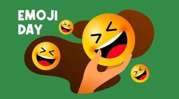 Cute emoji day illustration vector