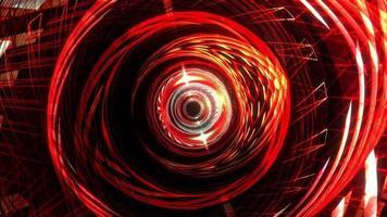 túnel futurista de estrutura de arame cibernético sem fim video