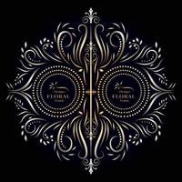 ilustration graphic vector of decorative floral frame