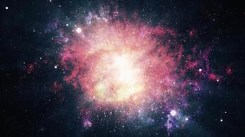 Space Travel through starfield supernova bursts light loop video
