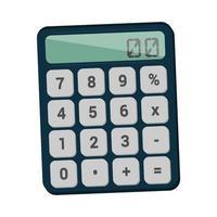 Calculator device vector illustration design