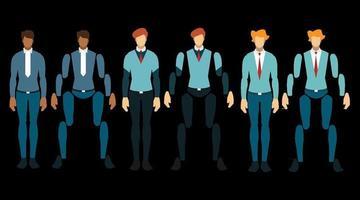 Businessman working character design set vector