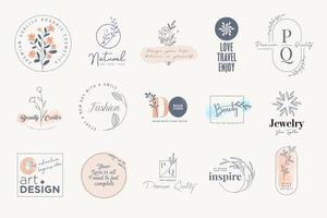 Set of elegant labels and badges vector