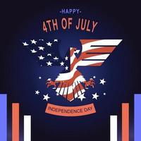 american flag in eagle shape vector