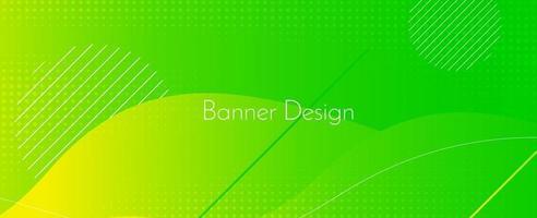 Modern stylish green abstract geometric elegant banner pattern background vector