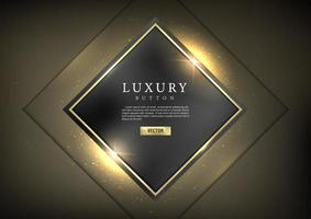 Button set web glossy luxury Gold 3 vector