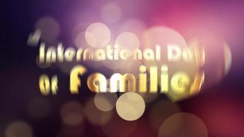 INTERNATIONAL DAY OF FAMILIES beautiful bokeh flare leak video