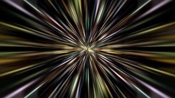 schöne bunte radiale Lichtstrahl-Sternrotationsschleife video
