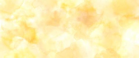 Manchas de pintura de acuarela amarilla textura grunge vintage sobre fondo de banner foto