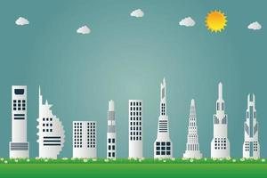 Building cityscape of the city beautiful vector