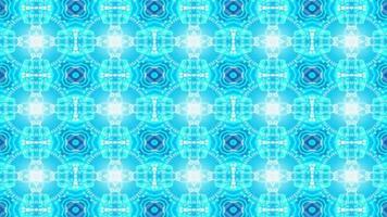 blauer Sternformkaleidoskophintergrund video