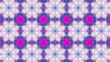 hellblauer und rosa Kaleidoskophintergrund video
