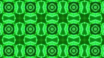 grüner Neonkaleidoskophintergrund video