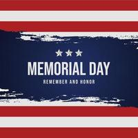 memorial day remember and honor poster with usa flag photo
