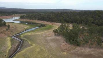 Drone aerial footage of a large fresh water urban reservoir in regional Australia video