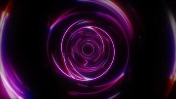 cercles en métal clair bleu violet réfléchissants arrondis video
