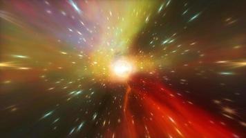 viaje espacial vuelo en bucle de túnel hiperespacial resplandor video