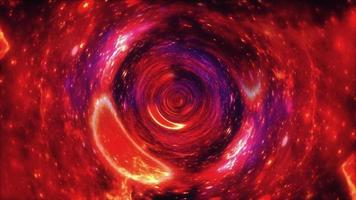 Loop traveling in abstract grungy hyperspace vortex tunnel video