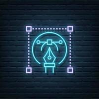 Graphic Design Neon Sign vector