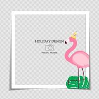 Party Holiday Photo Frame Template for post in Social Network vector