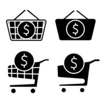 Shopping cart with dollar sign inside Place an order vector