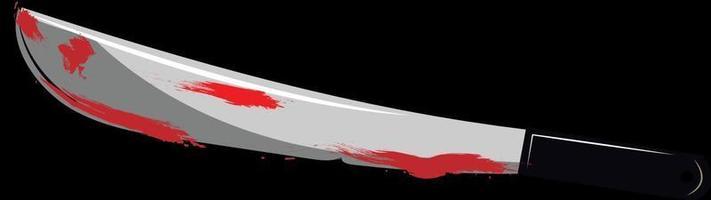 A sharp bloody machete vector